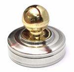 Металлическая печать Радий с кнопкой, диметр 40 мм.
